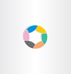 business circle logo icon color star vector image vector image