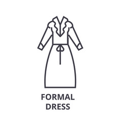 formal dress line icon outline sign linear vector image vector image