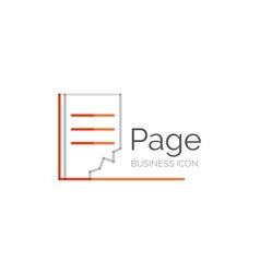 Line minimal design logo page vector image