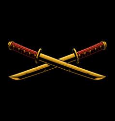 swords of katana o tanto vector image vector image