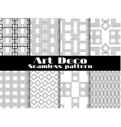 art deco seamless patterns set retro backgrounds vector image vector image