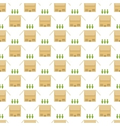 Box pattern seamless vector image