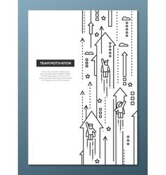 Business Team - line design brochure poster vector image vector image
