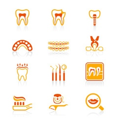 Dental set - JUICY series vector image vector image