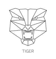 Fashion of tiger head print vector image