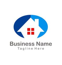 house realty company logo vector image vector image