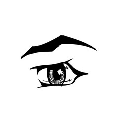 woman eye on white background vector image