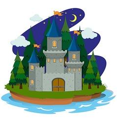 Castle on the island vector