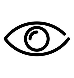 eye icon symbol of preview or searching outline vector image