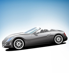 Grey sport car vector image vector image