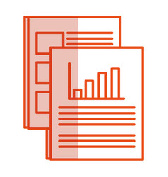 paper documents isolated icon vector image