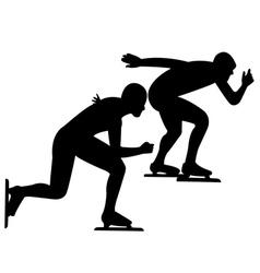 skating sport vector image vector image