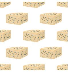 gorgonzola seamless pattern italian cheese vector image vector image