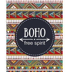 Hand drawn Boho style card Tribal design vector image vector image