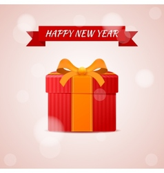 Happy new year abstract gift vector image vector image