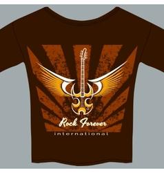 Rock fan tee shirt vector image vector image