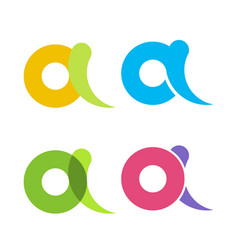 set isolated colorful letters and in flat vector image vector image