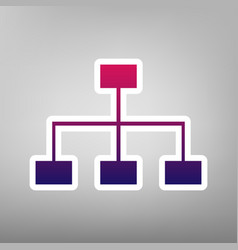 site map sign purple gradient icon on vector image