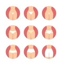 Various types of women panties underwear vector