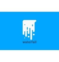 waterfall logo water logo creative logo design vector image vector image
