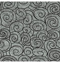 whorl seamless hand drawn pattern vector image