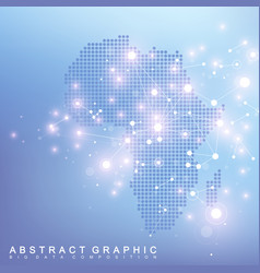 abstract map of africa country global network vector image