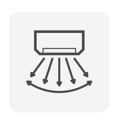 air flow icon vector image