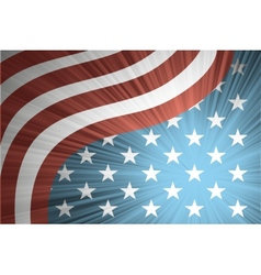 american flag with rays vector image