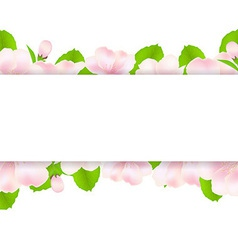 Apple Tree Flowers With Paper vector