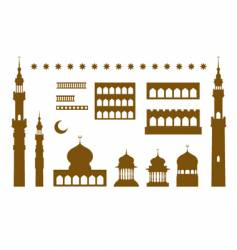 arabic temple elements vector image