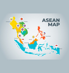 Asean map eps vector