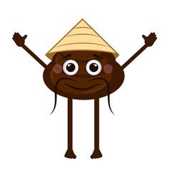 Asian poop emoji vector