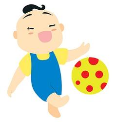 baby boy football vector image