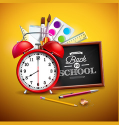 Back to school design with graphite pencil pen vector