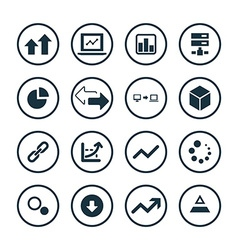 Big data database icons universal set vector