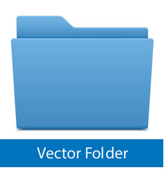 Blue computer folder isolated vector