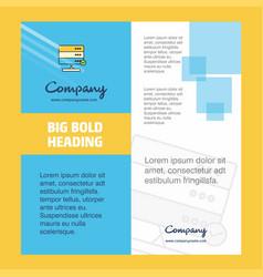 board company brochure title page design company vector image