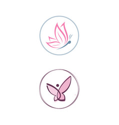 Butterfly boutique logo vector