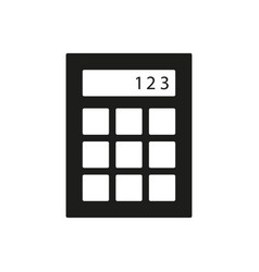 calculator icon simple vector image