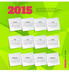 Calendar template brochure business design vector image
