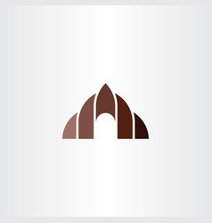Cave icon logo symbol design vector