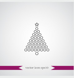 christmas tree icon simple vector image