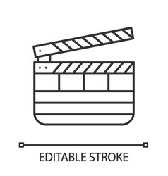 Clapperboard linear icon vector