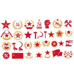 communism and socialism icons set vector image