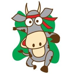 Cow Runner vector image