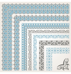 Decorative seamless islamic ornamental border with vector image