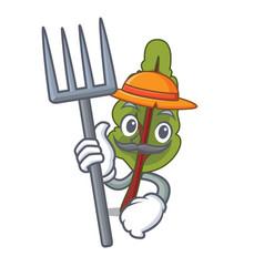 farmer chard character cartoon style vector image