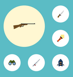 Flat icons lighter weapon zoom and other vector