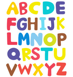 font template design in english a to z vector image