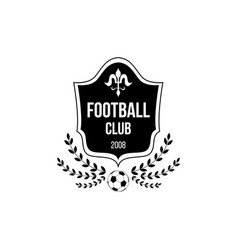 football club logo with shield badge shape and vector image